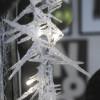 Guirlande stalactites feutrine LED
