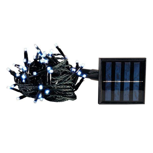 Guirnalda solar 100 LEDS blanco frío