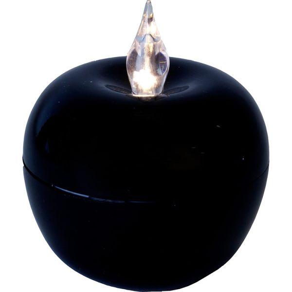 Bougie LED APPLE Black