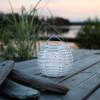 Lanterne solaire tressé blanche