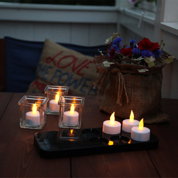 6 bougies led et chargeur solaire eclairage design. Black Bedroom Furniture Sets. Home Design Ideas