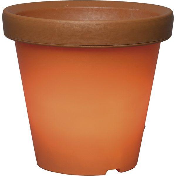 Vaso leggero in terracotta arancione