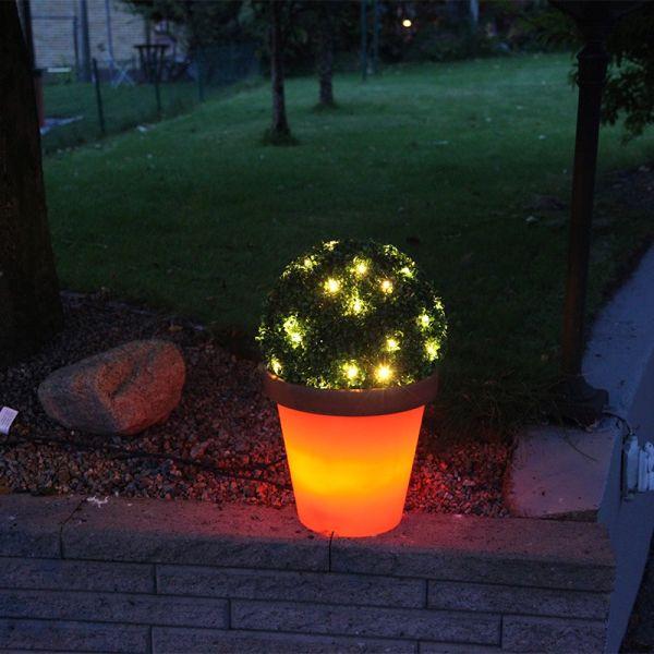 Pot lumineux Terracotta orange