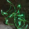 Garland 15 leds verdes en las baterías
