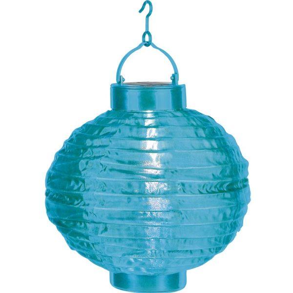 Lampion solaire couleur bleu