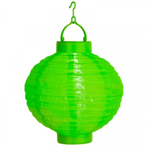 Lampion solaire couleur verte