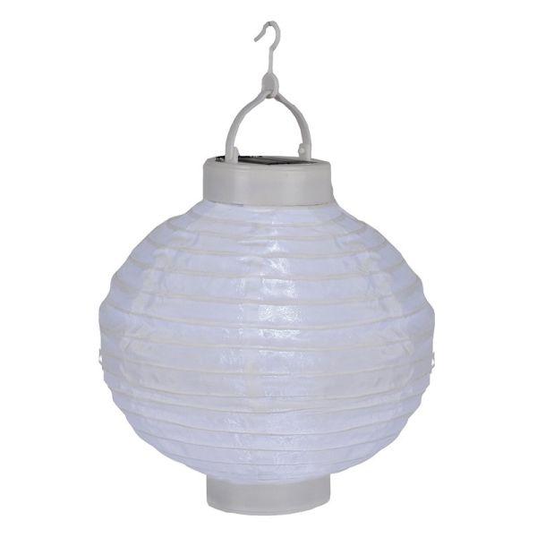 Lampion solaire couleur blanc
