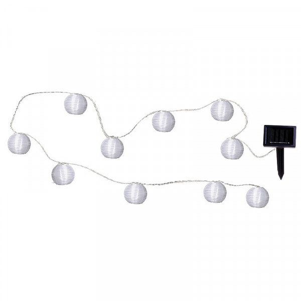 Guirlande solaire lampions blanc
