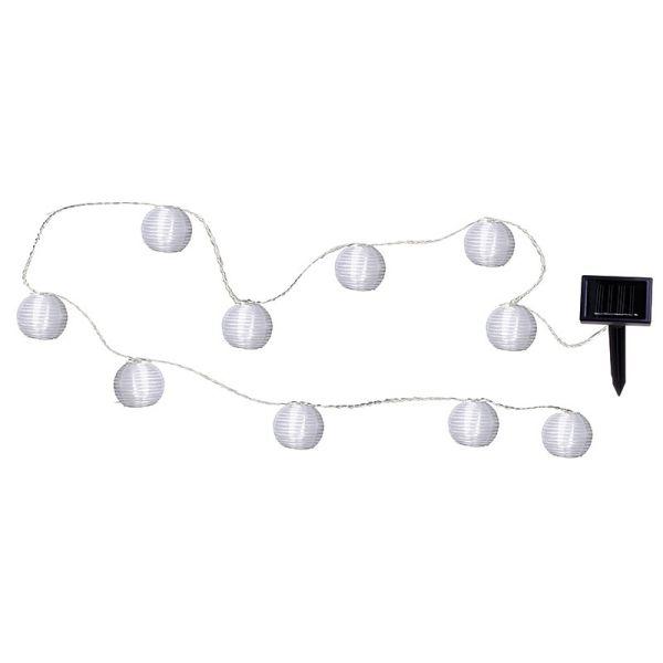 Lanterne di carta bianca per esterni a ghirlanda solare