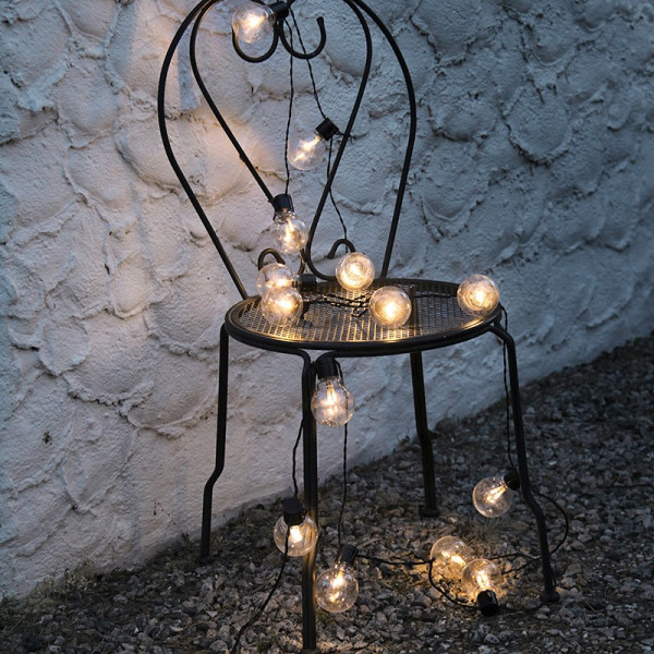 Ghirlanda a led Deco lampadina bianca calda