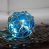 Boule LED suspendu bleu