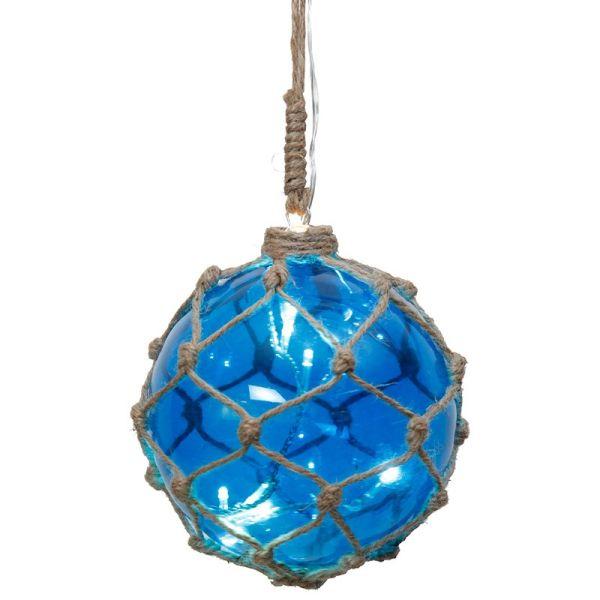 Palla LED appesa blu