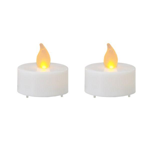 2 candele a led sulle batterie