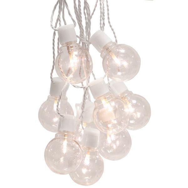 Guirlande ampoule blanc chaud cable blanc