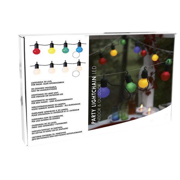 Guirnalda de fiesta con ganchillo multicolor
