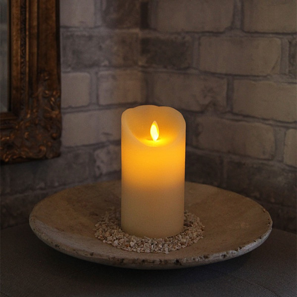 Bougie LED cire 15cm TWINKLE FLAMME