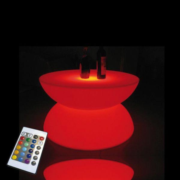 Mesa de café de la luz recargable