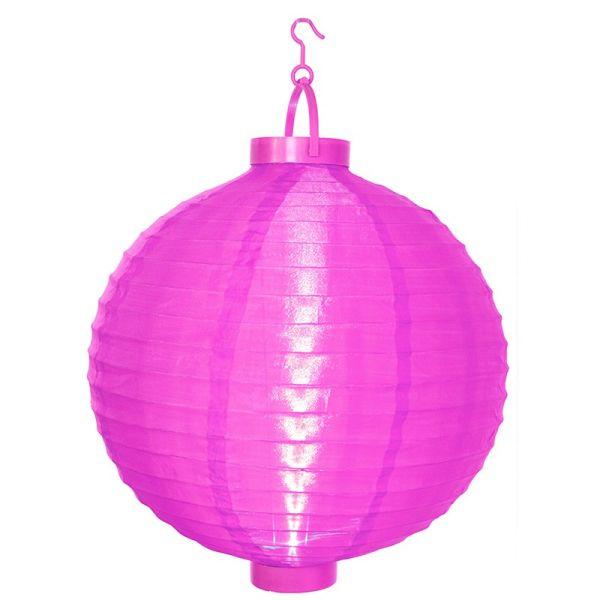 Lampion solar pink