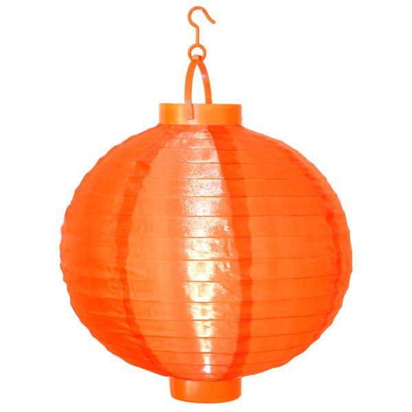 Lampion solaire couleur orange