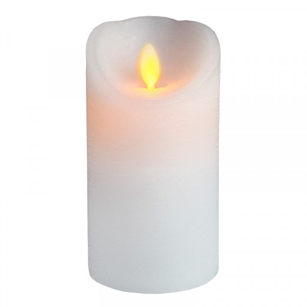 Bougie LED cire Blanche 15cm TWINKLE FLAMME