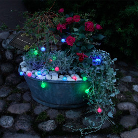 Guirlande solaire bille multicolore