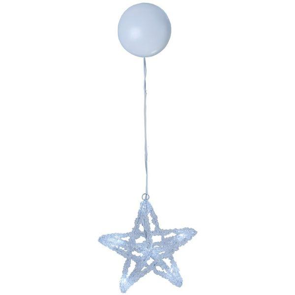 Motif lumineux étoile sur piles