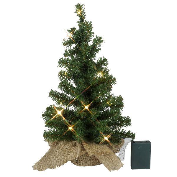Árbol de navidad, luz de navidad con su bolsa