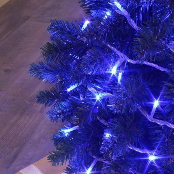 Guirlande flicker 128 led bleu