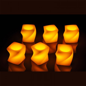 6 bougies LED torsade