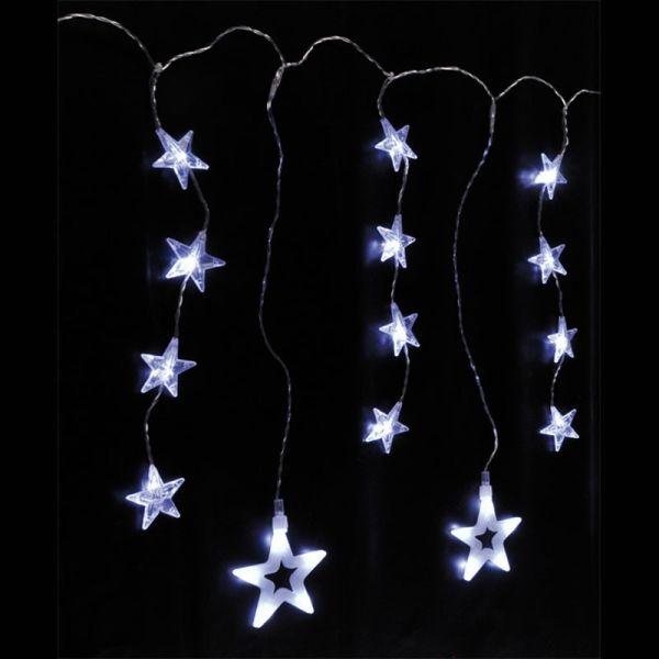 Rideau étoile blanc pur