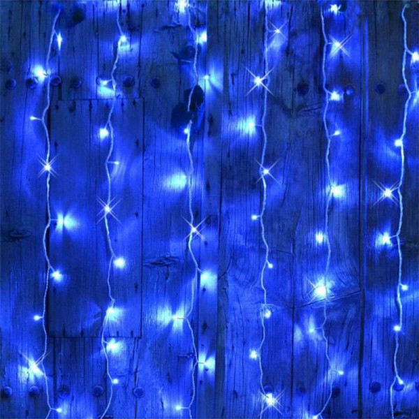 Cortina de parpadeo de 2mx2m Azul conectable