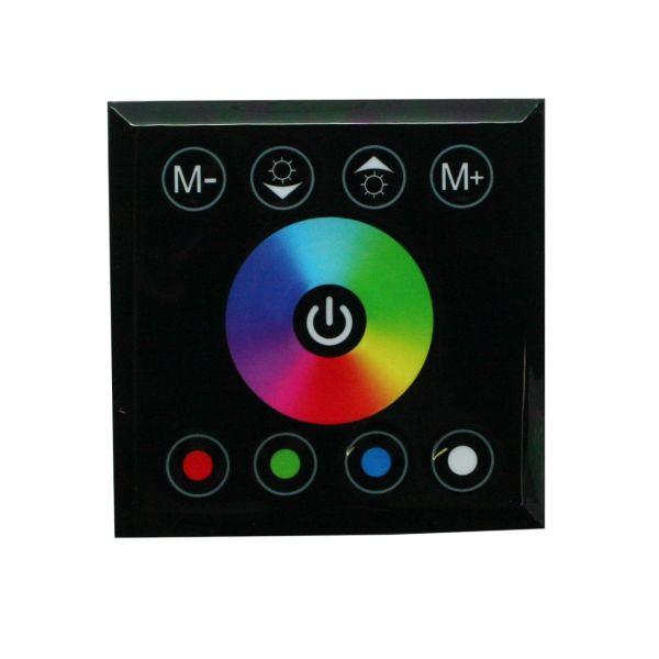 Controleur RGB mural tactile noir