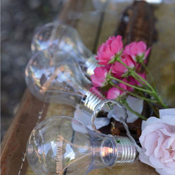 Guirnalda de LED de 8 bombillas transparentes 3.5 m