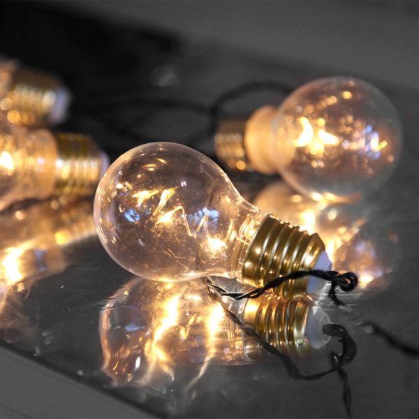 Guirnaldas de 5 bombillas deco en baterías