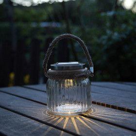 Lampe de table solaire JAR GLASS
