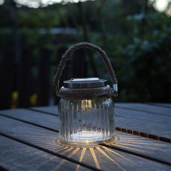 lampe de table solaire jar glass eclairage design. Black Bedroom Furniture Sets. Home Design Ideas