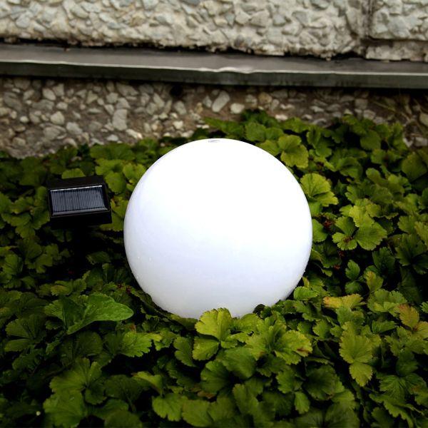 Globe solaire 20cm blanc