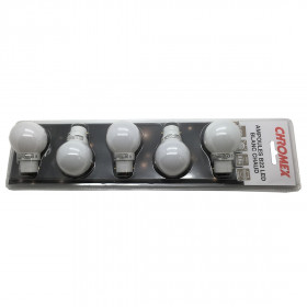 Blister 5 ampoules led B22 blanc chaud