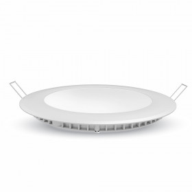 Plafonnier LED rond 12W blanc chaud + Driver
