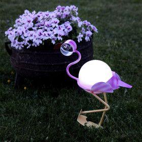 Décoration solaire Flamingo