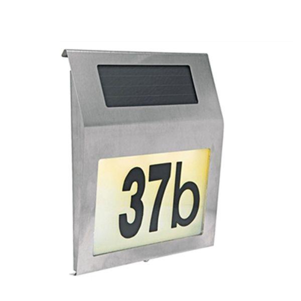 Numéro de maison solaire