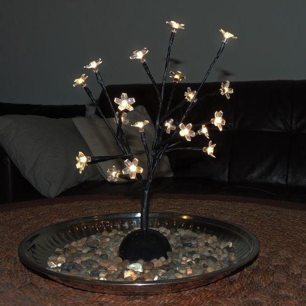 Cerisier 20 LED Blanc chaud sur piles