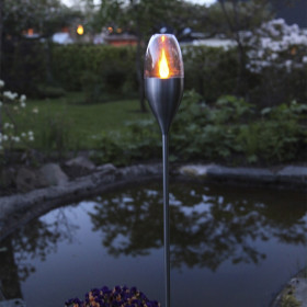 Flambeau solaire inox