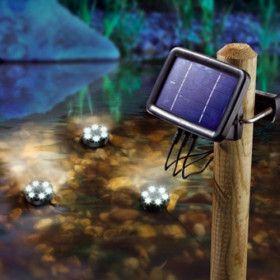 Trio de lampe solaire aquatique
