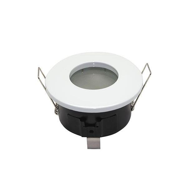 Support Spot LED étanche IP65 Fixe Rond BBC blanc