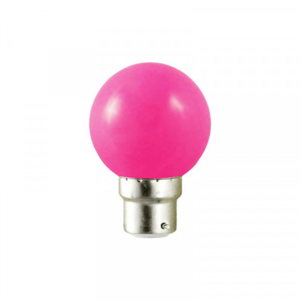 Ampoule LED B22 Rose 1W