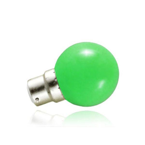 Ampoule LED B22 Vert 1W