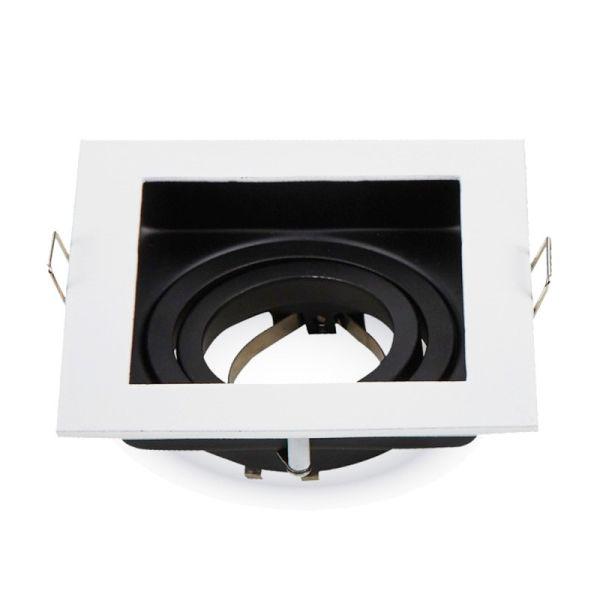 Support carré blanc moderne pour SPOT GU10