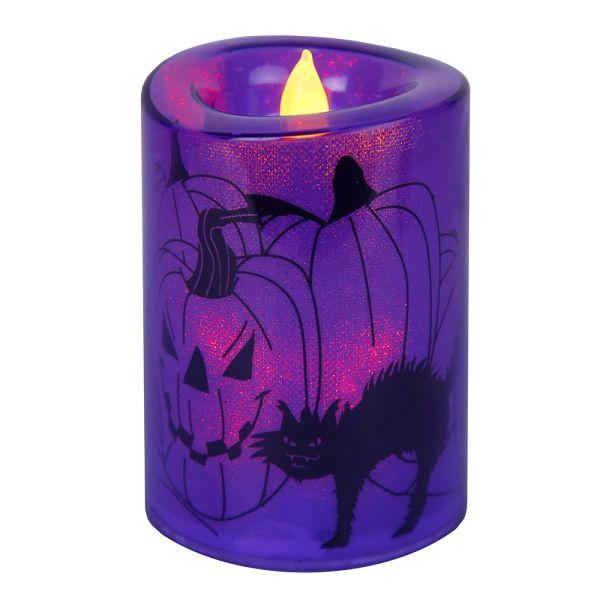 Bougie LED Violet Halloween