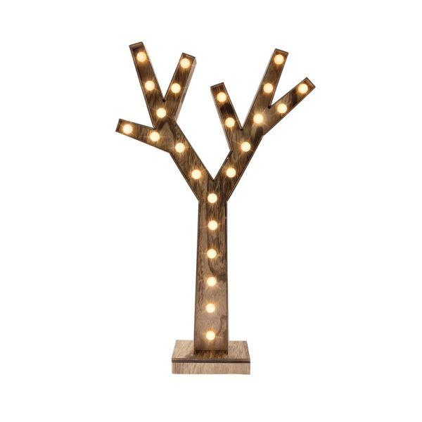 Arbre bois LED à piles